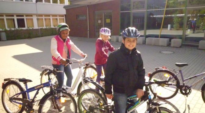 Die Fahrradausbildung für die 4. Klassen