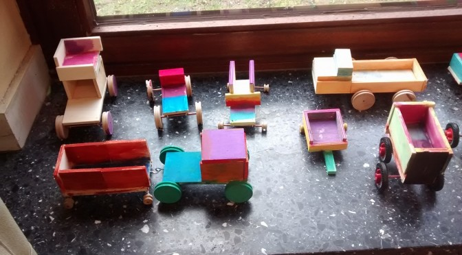 Alles, was rollt: Die 3a baut Fahrzeuge in der Holzwerkstatt